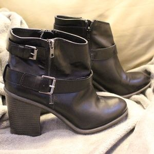 MIA Girl Mabel Black Ankle Boots / Booties, 10